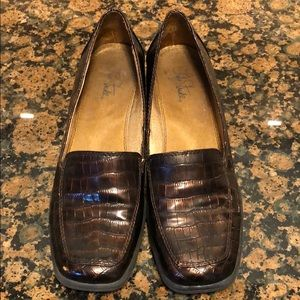 Woman's brown loafers